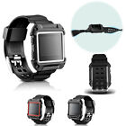 For Fitbit Blaze!Intergral Silicone Replacement Wristband Strap Band+Rugged Case