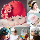 Cotton Newborn Girl Baby Infant Toddler Soft Flower Hat Cap Beanie Headwear EN24