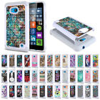 case nokia lumia - For Microsoft Nokia Lumia 640 Design Dual Layer Hybrid Sparkle Bling Case Cover