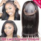 """10""""-18"""" 360 Lace Frontal Closure Malaysian Virgin Human hair Pre Plucked US F41"""