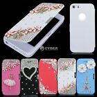 5 Patterns Luxury Bling Crystal Rhinestone Flip Case Cover For iPhone 5,5s,5G