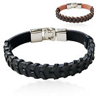 CHIC New Mens Womens Fashion Twisted Leather Chain Bracelet Alloy Jewelry Gift