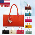 Fashion Women Girls Handbags Leather Shoulder Bag 9-colors Flowers Tote US Stock