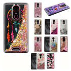 T-Mobile Revvl Plus Liquid Glitter Quicksand Hard Case Phone Cover +Screen Guard