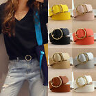 Fashion Women Lady Vintage Metal Boho Leather Round Buckle Waist Belt Waistband