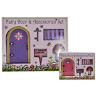 Magical Fairy Door & Accessories Gft Set With Key Toadstool Fence & Sign 9083