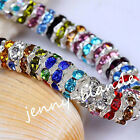50/100Pc Czech Crystal Spacer Rondelle Beads Charm Findings 8mm Free Shipping