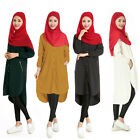 Muslim Kaftan Women Long Sleeve Cocktail Dress Shirt Islamic  Arab Maxi Clothes