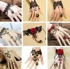 NEW Vintage Retro Lace Bangle Bracelets Flower Chain Ring Hand Harness Jewelry