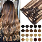 Premium Clip In Human Hair Extensions Remy 100% Real Human Hair Extensions A007