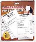 New Embarrassing Fake Receipts Funny Prank Gag Gift (over The Hill)