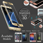 FULLY CURVED 3D TEMPERED GLASS EDGE TO EDGE SCREEN PROTECTOR COVER FOR MOBILES