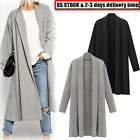 2017 Womens Open Front Trench Coat Long Cloak Jacket Overcoat Waterfall Cardigan