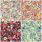 PER 1/2 metre/FQ DAISY DREAMS 100 % cotton dressmaking Fabric 112cm Wide
