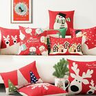 Christmas Snowman Deer Snowflake Decor Pillow Case Cushion Cover Square Oblong