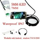 1-5M 6LED Android Endoscope Waterproof Snake Borescope USB Inspection Camera