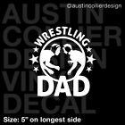 WRESTLING DAD Vinyl Decal Car Truck Window Laptop Sticker - High School College