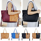 Handbags Tote PU Leather Shoulder Bag Women Large Capacity Bucket Bags US Stock