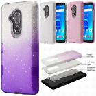 For ZTE DUO MAX IMPACT TUFF HYBRID Protector Case Skin Cover +Screen Protector