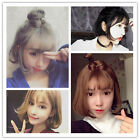 35CM Harajuku Lolita Cosplay Short Bob Wig Curly Wavy Synthetic Hair With Bangs