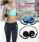 Wireless Sports Bluetooth 4.0 Stereo Foldable Headphone Headset Mic For Iphone