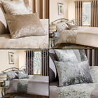 LUXURY MODERN CRUSHED VELVET CUSHION COVER NATURAL CREAM SILVER GREY NEW
