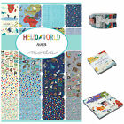 MODA Hello World  100 % cotton fabric charm pack, jelly roll, layer cake