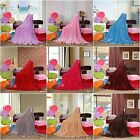 Solid Luxury Soft Warm Plush Bed Linen Sleep Throw Rug Blanket Flannel 12 Colors