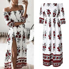 Women Summer Boho Long Maxi Dress Evening Party Beach Dresses Floral Sundress US