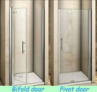 Aica Frameless Pivot Bi Fold Shower Door Enclosure Glass Screen 700 760 800 900