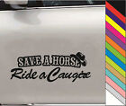 "15Color  ""SAVE A HORSE Ride a Cowgirl"" Decal Car Window Bump Funny Vinyl Sticker"