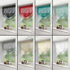 Mirabel - Macrame Decorative Window Sheer Voile Swag Curtain  - Assorted