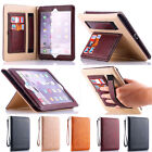 Luxury Soft Leather Case Smart Auto Sleep Card Cover For iPad2 3 4/mini/ Air/Pro
