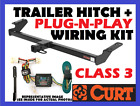 Curt Trailer Hitch & Vehicle Wiring Harness Fits 1997 Jeep Wrangler 13408 55356