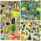 "Woodland animals supersoft fleece fabric 60 "" wide PER METRE/ FAT QUARTER"