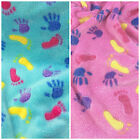 Supersoft fleece fabric  PER METRE/ FAT QUARTER  little hands & feet design