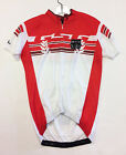 Olympic Short SLEEVE Cycling JERSEY in White and Red Made in Italy by GSG