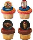 Marvel Iron Man Cupcake Rings Party Favors Avengers Cake Toppers Decorations