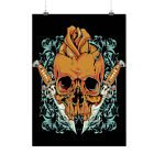 Skull Rose Knive Skull Matte/Glossy Poster A4 A3 A2 A1 A0 | Wellcoda