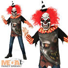 Freako Clown + Mask Boys Halloween Fancy Dress Circus Horror Kids Childs Costume