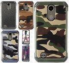 For LG K20 Plus Rubber IMPACT TRI HYBRID Case Skin Phone Cover Accessory
