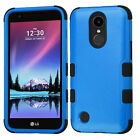 For LG K20 Plus IMPACT TUFF HYBRID Protector Case Skin Phone Cover Accessory