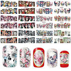 1x one stroke sticker,nail art,Skull,totenkopf,halloween,la catarina,BN181-Bn192