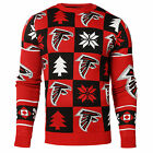 NFL UGLY SWEATER Pullover Christmas Style ATLANTA FALCONS Patches Football