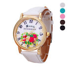 New Women Watch Stainless Steel Leather Analog Dial Quartz Wrist Watch Gift