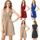 Summer Women Sleeveless Bodycon Slim Casual Party Evening Cocktail Mini Dress