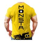 Monsta Clothing Mens Bodybuilding Workout T Shirt MC-Drift Dumbbell T-Shirt New