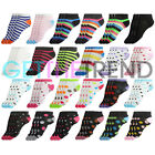 12 Pairs Womens Trainer Socks Ladies Design Ankle Footsies Sneakers Invisible