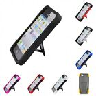 For Apple iPhone 5/5S/SE Case Slim Armor Hard Soft Dual Layer Cover With Stand