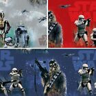 Star Wars In Space Storm Troopers Chewbacca 100% Cotton Curtain Lining Fabric £4.75 GBP